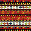 Abstract Ethnic Pattern In Vivid Colors. Fancy Multicolored Background Ornament