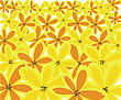 Abstract Floral Background From Orange And Yellow Flowers stock vector