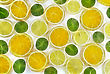 Abstract Fractal Rendered Fruit Mix-lemon, Orange, Kiwi On White Background(as Wallpaper Or Backdrop