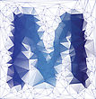 Abstract Frozen Letter M Low Poly Design Gradient EPS10 Vector Illustration