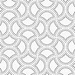 Abstract Geometric Background. Gray Seamless Pattern. Monochrome Texture.Dotted Cut Double Circle Pin Will