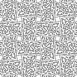 Abstract Geometric Background. Gray Seamless Pattern. Monochrome Texture.Dotted Rectangle Filled With Dots