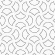 Abstract Geometric Background. Gray Seamless Pattern. Monochrome Texture.Dotted Cut Circle Pin Will