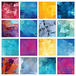 Abstract Geometric Background Set. Polygonal Vector Design