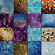 Abstract Geometric Backgrounds. Mosaic Vector Backgrounds. Vector Backgrounds