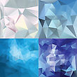 Abstract Geometric Backgrounds. Polygonal Vector Backgrounds