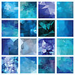 Abstract Geometric Backgrounds. Polygonal Vector Design