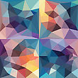 Abstract Geometrical Background. Vector Polygonal Design