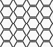 Abstract Geometrical Pattern. Modern Monochrome Background.Flat Gray With Hexagonal Reticulated Ornament