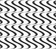Abstract Geometrical Pattern. Modern Monochrome Background.Flat Gray With Solid Vertical Waves