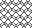 Abstract Geometrical Pattern. Modern Monochrome Background.Flat Gray With Waves Forming Grid