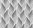 Abstract Geometrical Pattern. Modern Monochrome Background.Flat Gray With Wavy Textured Leaves
