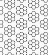 Abstract Geometrical Pattern. Modern Monochrome Background.Flat Gray With Hexagonal Flowers
