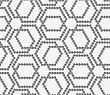 Abstract Geometrical Pattern. Modern Monochrome Background.Flat Gray With Hexagonal Complex Grid