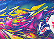 Abstract graffiti on wall stock photography
