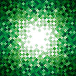 Abstract Green Triangle Mosaic Background Design Element. Vector Illustration