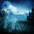 Abstract Halloween Backgrounds For Your Design stock illustration