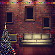 Abstract Interior With Xmas Decoration For Your Design