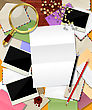 Abstract Mail. Decorative Frame Made Of Different Envelopes And Room For Text