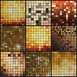 Abstract Mosaic Background. Geometric Vector Illustration