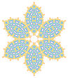 Abstract Ornamental Color Shape On White Background