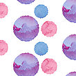Abstract Pattern With Color Watercolor Circles. Vector Eps10