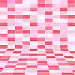Abstract Pink Halftone Background Of Rectangles. Vector Illustration.