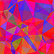 Abstract Red Blue Polygonal Background. Abstract Red Blue Geometric Pattern