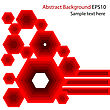 Abstract Red Vector Background stock illustration