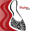 Abstract Red And White Background With A Graceful Feminine Handbag