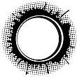 Abstract Round Frame With Ink Spots And Place For Text