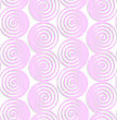 Abstract Seamless Background With 3D Cut Out Of Paper Effect. Pattern With Realistic Shadow. Modern Texture. Stylish Backdrop.White Colored Paper Pink Spirals With Thickening