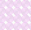 Abstract Seamless Background With 3D Cut Out Of Paper Effect. Pattern With Realistic Shadow. Modern Texture. Stylish Backdrop.White Colored Paper Pink Spirals