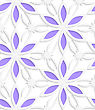 Abstract Seamless Background. Floristic White Shapes With Cut Out Paper Effect And Realistic Shadows