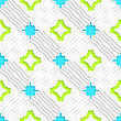 Abstract Seamless Background. Wavy Lines With Blue And Green And Cut Out Of Paper Effect
