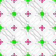Abstract Seamless Background. Wavy Lines With Pink And Green And Cut Out Of Paper Effect
