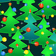 Abstract Seamless Pattern With Holidays Christmas-trees. Vector Illustration.