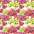 Abstract Seamless Pattern With Purple And Green Grapes. Isolated On White Background. Close-up. Studio Photography stock photography