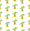 Abstract Seamless Pattern With Tropical Palm Trees. Summer Background. Endless Print Texture. Fabric Design. Wallpaper - Vector