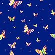 Abstract Seamless Wallpaper Pattern Butterflies. A Vector. stock vector
