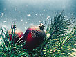 Snowfall Abstract Seasonal Backgrounds With Christmas Decorations And Beauty Bokeh stock photography