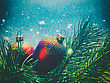 Abstract Seasonal Backgrounds With Christmas Decorations And Beauty Bokeh stock photography