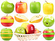Abstract Set Of Fresh Strange Fruits For Your Design Close-up Studio Photography