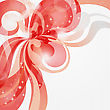 Abstract Shiny Love Theme Background With Stripes And Hearts In Red Tones