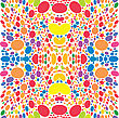 Abstract Symmetry Colored Spots
