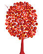 Terrain Abstract Tree In Red Tones stock illustration