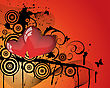 Abstract Valentine Days Background Frame. Vector Illustration.