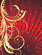 Abstract Vector Festive Background In Red Colors