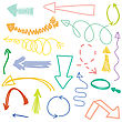 Abstract Vector Set, Hand Drawn Arrows Illustration Collection