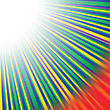Abstract Wave Background With Red, Yellow, Green Rays. Rays Diverging In Different Directions